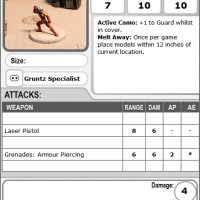 Gruntz Specialist - Covert Ops - Assassin Operative  29pt