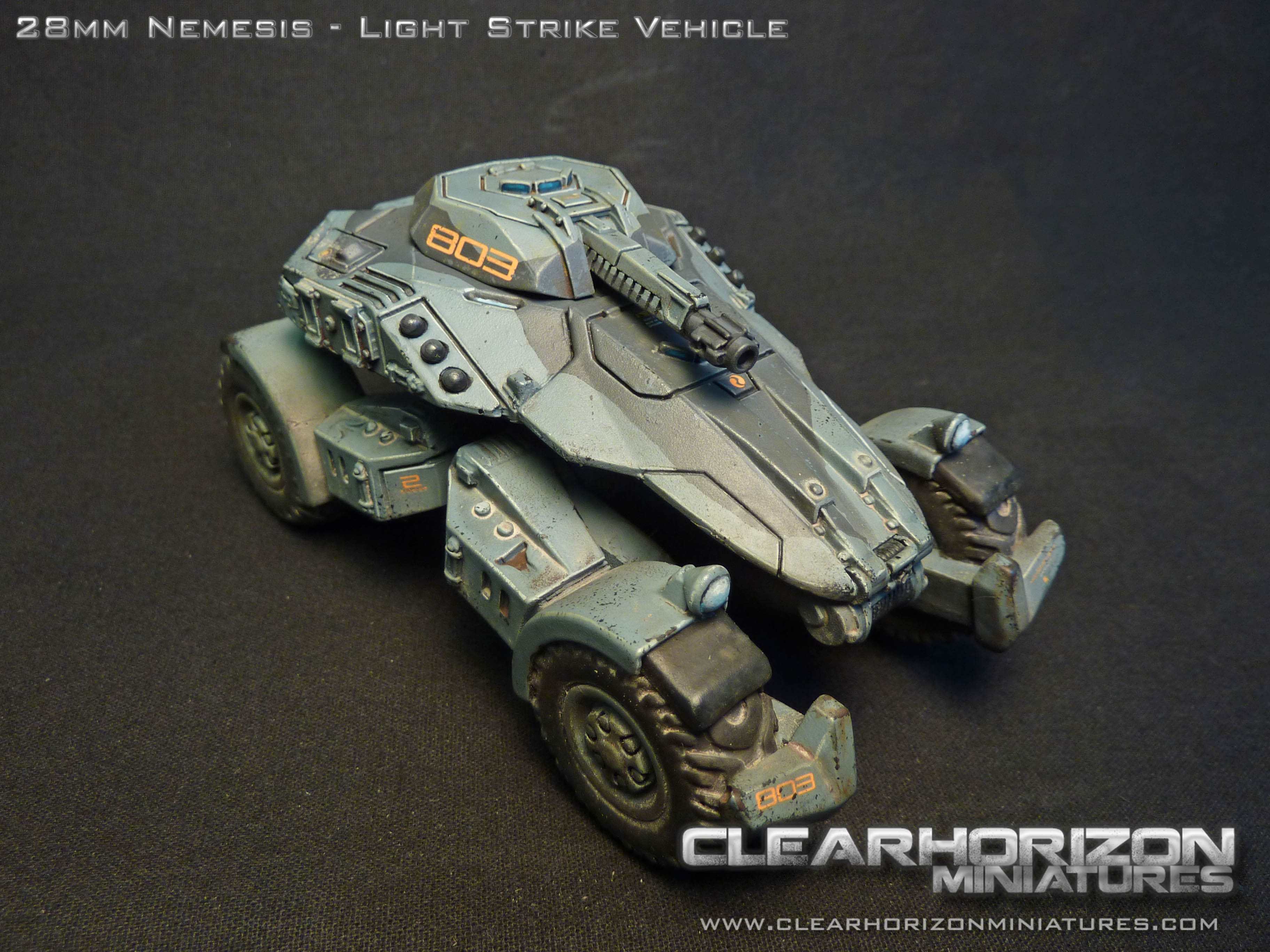 28mm nemesis light strike vehicle clearhorizon miniatures